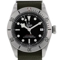 Tudor Black Bay Steel Stål 41mm Svart Inga siffror