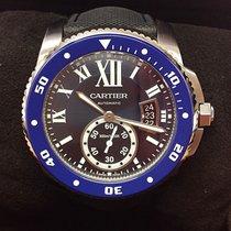 Cartier Calibre de Cartier Diver Сталь 42mm Синий Римские