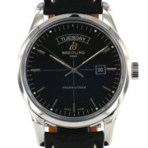 Breitling Transocean Day & Date Acero 43mm Negro Sin cifras