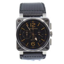 Bell & Ross BR 03-94 Chronographe pre-owned 42mm Black Chronograph Date Leather