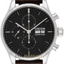 Union Glashütte Viro Chronograph Otel 44mm Negru