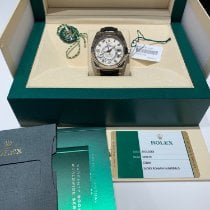 Rolex White gold Automatic White Arabic numerals 42mm pre-owned Sky-Dweller