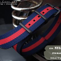 MiLTAT Thick 18mm NATO Watch Strap, Blue & Red, PVD