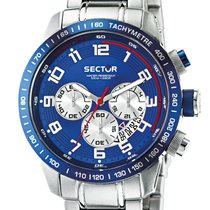 Sector 850 Steel 52mm Blue Arabic numerals