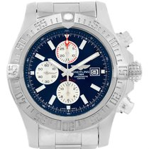 Breitling Aeromarine Super Avenger Blue Dial Steel Mens Watch...
