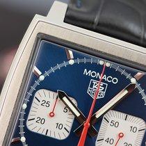 TAG Heuer Monaco Calibre 17 Steve McQueen Chrono Steel Blue...