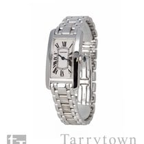 Cartier Tank Américaine White gold 19mm Silver Roman numerals United States of America, New York, Hartsdale