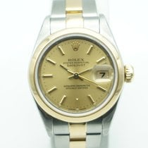 Rolex Lady Datejust 26mm Two Tone Champagne Dial Oyster Band 2001