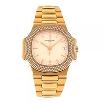 Patek Philippe Nautilus 18K Yellow Gold Diamond Bezel Automati...