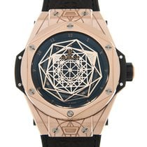 恒宝  (Hublot) Big Bang 18k Rose Gold Black Automatic 415.OX.111...