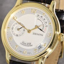 Zenith Elite Power Reserve Yellow gold 36mm Silver Arabic numerals