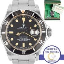 Rolex Vintage 1982 UNPOLISHED Rolex Submariner Date 16800...