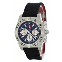 Breitling Chronomat 44 pre-owned 44mm Black Chronograph Date Tachymeter Textile