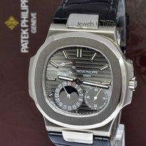 Patek Philippe Nautilus 18k White Gold Watch & Archival...