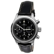IWC Pilot Chronograph Steel 36mm Black Arabic numerals United States of America, California, Los Angeles