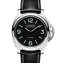Panerai Luminor Base 8 Days Stal Czarny Arabskie