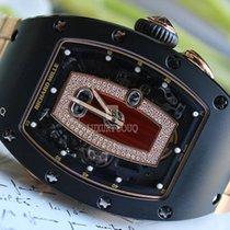 Richard Mille RM 037 Roségold 52.63mm Schwarz Keine Ziffern