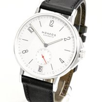 NOMOS Ahoi Datum pre-owned 40mm Silver Date Leather