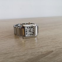 Cartier Tank Française pre-owned 28mm Silver Date Gold/Steel