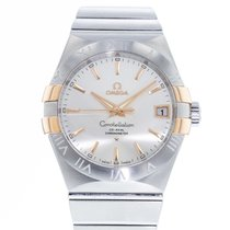Omega Constellation Ladies pre-owned 35mm Silver Date Steel