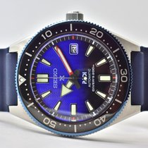 Seiko Prospex Steel 42mm Blue No numerals