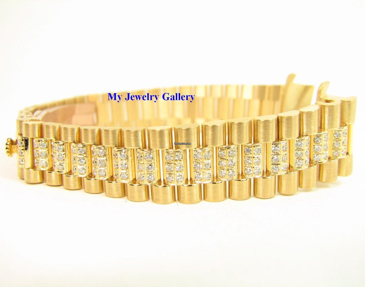 Rolex Aftermarket 18k Yg Diamond Bracelet Band For La 4 000 From A Trusted Er On Chrono24