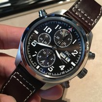 IWC Pilot Double Chronograph Staal 44mm