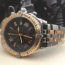 Breitling Crosswind Gold Steel Pilotband Black Roman Dial 43...