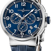 Ulysse Nardin Titanium Automatic Blue new Marine Chronograph