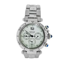 Cartier Pasha Seatimer Steel 38mm Silver Arabic numerals