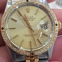 Rolex Datejust Rolex Ref 16013 Gold/Steel Fantastic Bezel Gold...