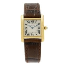 Cartier Tank Française Yellow gold 25mm Silver Roman numerals United States of America, New York, New York