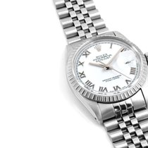 Rolex 36mm Steel Datejust Bold White Roman Dial - Quickset