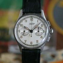 Tissot Chronograph 35mm Manual winding 1940 pre-owned Silver
