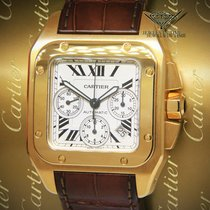 Cartier Santos 100 pre-owned 41mm Yellow gold