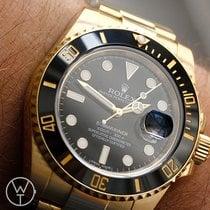 Rolex Gelbgold Automatik 40mm gebraucht Submariner Date