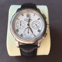 Glashütte Original Senator Chronograph pre-owned 39mm White Chronograph Date Leather