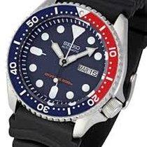 Seiko Marine Sport Black Strap Blue Dial Data SKX0/09K1