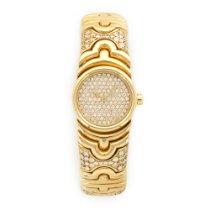 Bulgari Yellow Gold Parentsi Diamond Bangle Watch