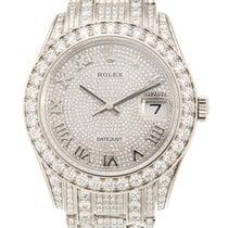 劳力士  (Rolex) Pearlmaster 18k White Gold With Diamond Silver...