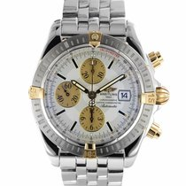 Breitling Chronomat Evolution Gold/Steel 44mm Silver No numerals