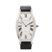 Cartier Платина Механические Белый Римские 26mm подержанные Tonneau