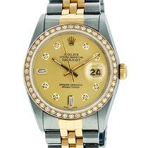 Rolex 16013 Or/Acier 1980 Datejust 36mm occasion