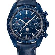 Omega Speedmaster Professional Moonwatch Moonphase Керамика Синий Без цифр