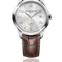 Baume & Mercier 41mm Automatic 2014 pre-owned Clifton Silver