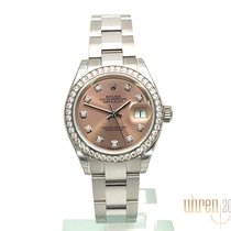 Rolex Lady-Datejust Staal 28mm Roze Geen cijfers