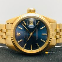 Rolex Oro amarillo Automático Azul Sin cifras 26mm usados Lady-Datejust