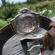 Panerai Luminor Base nieuw 2010 Handopwind Horloge met originele doos en originele papieren PAM 00112