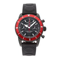 Breitling Superocean Héritage Chronograph pre-owned 44mm Black Chronograph Date Rubber