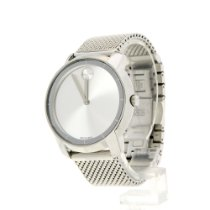 Movado Bold Steel 38mm Silver No numerals United States of America, Texas, Beaumont